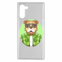 Чохол для Samsung Note 10 A dog with glasses and a shirt