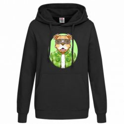 Толстовка жіноча A dog with glasses and a shirt