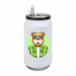 Термобанка 350ml A dog with glasses and a shirt