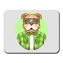 Килимок для миші A dog with glasses and a shirt