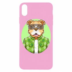 Чохол для iPhone X/Xs A dog with glasses and a shirt