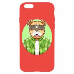 Чохол для iPhone 6/6S A dog with glasses and a shirt