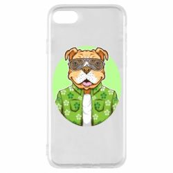 Чохол для iPhone 7 A dog with glasses and a shirt