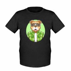 Дитяча футболка A dog with glasses and a shirt