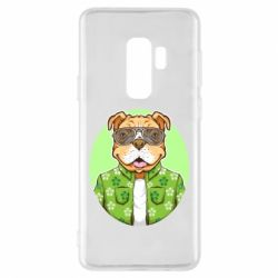 Чохол для Samsung S9+ A dog with glasses and a shirt