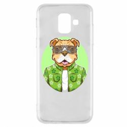 Чохол для Samsung A6 2018 A dog with glasses and a shirt