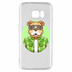 Чохол для Samsung S7 A dog with glasses and a shirt