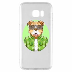Чохол для Samsung S7 EDGE A dog with glasses and a shirt