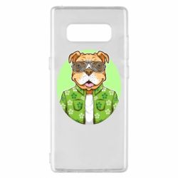 Чохол для Samsung Note 8 A dog with glasses and a shirt