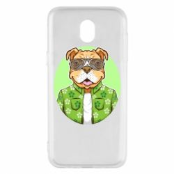 Чохол для Samsung J5 2017 A dog with glasses and a shirt