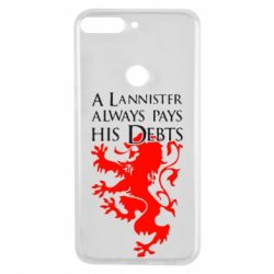 Чехол для Huawei Y7 Prime 2018 A Lannister always pays his debts - FatLine