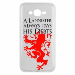 Чехол для Samsung J7 2015 A Lannister always pays his debts - FatLine