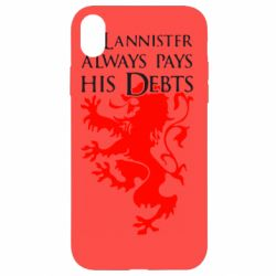 Чехол для iPhone XR A Lannister always pays his debts - FatLine