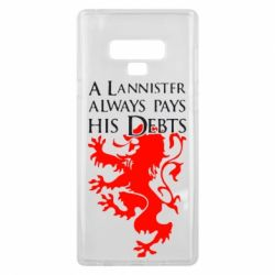 Чехол для Samsung Note 9 A Lannister always pays his debts - FatLine