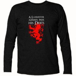 Футболка с длинным рукавом A Lannister always pays his debts - FatLine