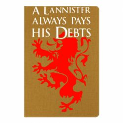 Блокнот А5 A Lannister always pays his debts