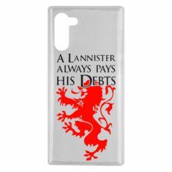 Чохол для Samsung Note 10 A Lannister always pays his debts