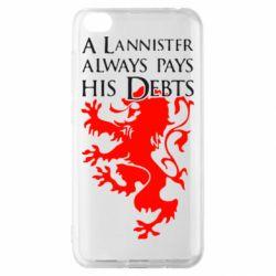 Чехол для Xiaomi Redmi Go A Lannister always pays his debts