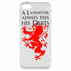 Чехол для iPhone5/5S/SE A Lannister always pays his debts - FatLine