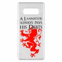 Чехол для Samsung Note 8 A Lannister always pays his debts - FatLine