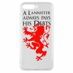 Чехол для Huawei Y6 2018 A Lannister always pays his debts - FatLine