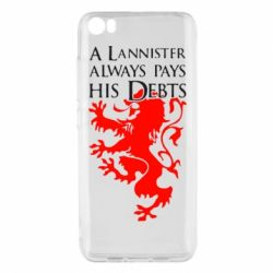 Чехол для Xiaomi Xiaomi Mi5/Mi5 Pro A Lannister always pays his debts - FatLine