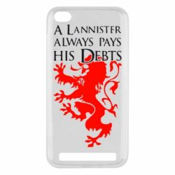 Чехол для Xiaomi Redmi 5a A Lannister always pays his debts - FatLine