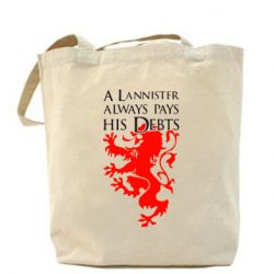 Сумка A Lannister always pays his debts - FatLine