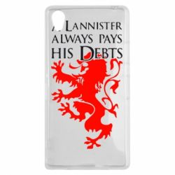 Чехол для Sony Xperia Z1 A Lannister always pays his debts - FatLine