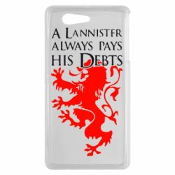 Чехол для Sony Xperia Z3 mini A Lannister always pays his debts - FatLine