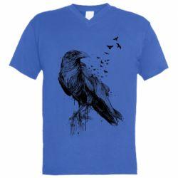 Чоловіча футболка з V-подібним вирізом A pack of ravens