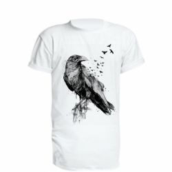 Подовжена футболка A pack of ravens