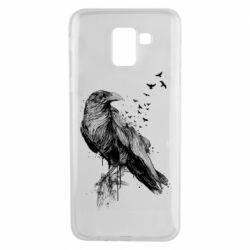 Чохол для Samsung J6 A pack of ravens