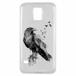 Чохол для Samsung S5 A pack of ravens