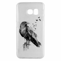 Чохол для Samsung S6 EDGE A pack of ravens