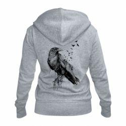 Жіноча толстовка на блискавці A pack of ravens