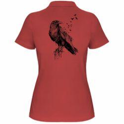 Жіноча футболка поло A pack of ravens