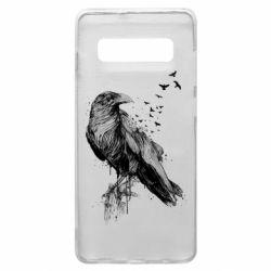 Чохол для Samsung S10+ A pack of ravens