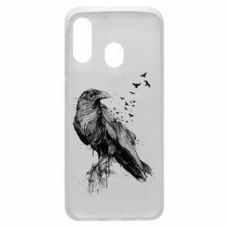 Чохол для Samsung A40 A pack of ravens