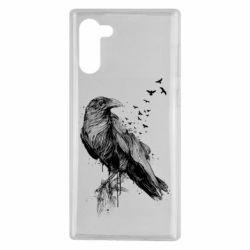Чохол для Samsung Note 10 A pack of ravens