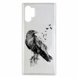 Чохол для Samsung Note 10 Plus A pack of ravens