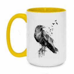 Кружка двоколірна 420ml A pack of ravens