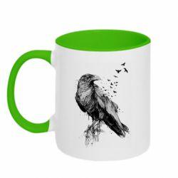 Кружка двоколірна 320ml A pack of ravens