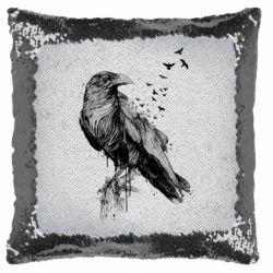 Подушка-хамелеон A pack of ravens