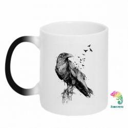 Кружка-хамелеон A pack of ravens