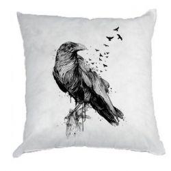 Подушка A pack of ravens