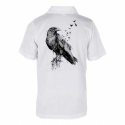 Дитяча футболка поло A pack of ravens