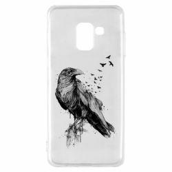 Чохол для Samsung A8 2018 A pack of ravens