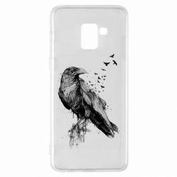 Чохол для Samsung A8+ 2018 A pack of ravens
