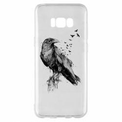 Чохол для Samsung S8+ A pack of ravens
